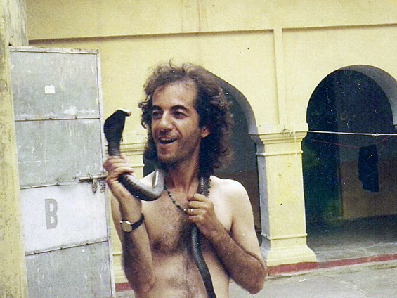 Rama somewhere in India with a cobra
