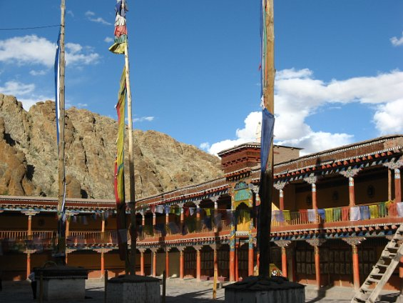 The courtyard where the lamas dance during the festival