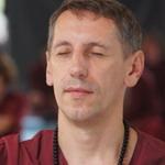 meditator at Oshodham