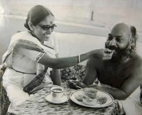 Osho being fed