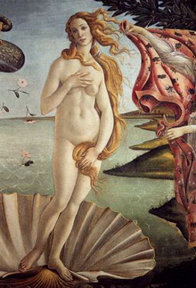 The Birth of Venus (Botticelli) is a classic representation of femininity.