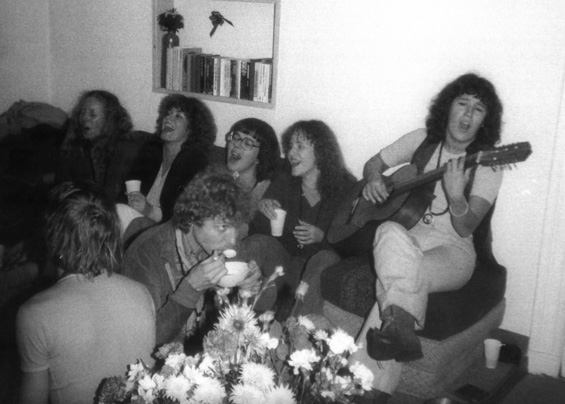 1978 Singing with colleagues