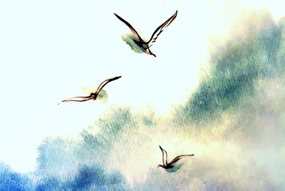 Gyaneshwar - birds watercolour