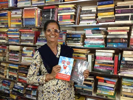 Sophia in her bookshop