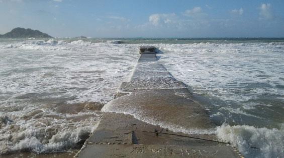 Arillas stormy weather