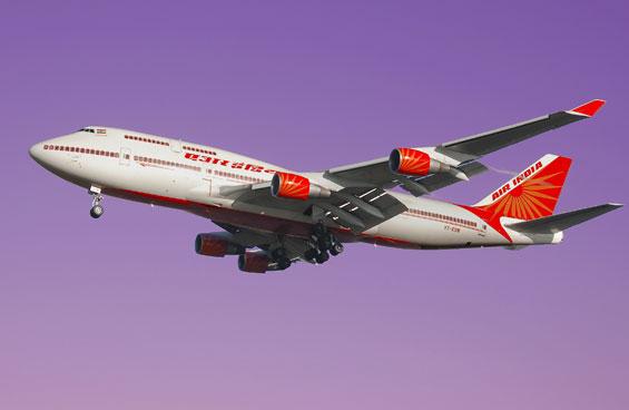 Air India in purple haze