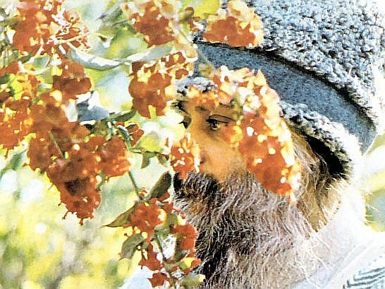 Osho with flowers
