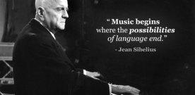 Music begins where…