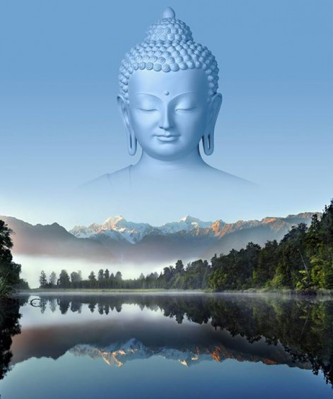 Buddha over Lake