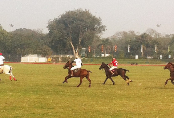 Hot Pursuit: Last chance to score a goal before the chukka ends.