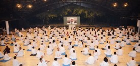 Sannyasins Participating in Healing Meditation