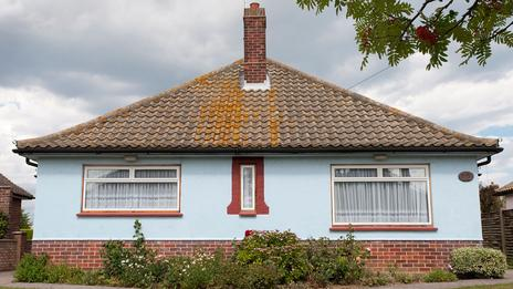 An art deco style bungalow. No. 12 Audley Way, part of the architecturally unique Frinton Park Estate, Frinton-on-Sea, Essex