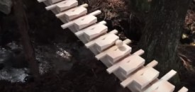 Giant Xylophone in Forest Plays Bach