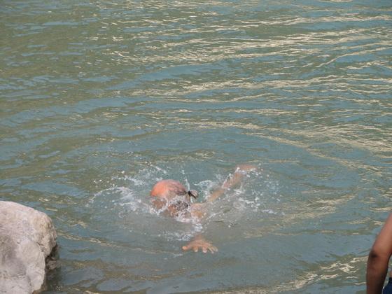 Anatto taking a dip