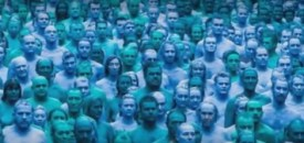 Thousands in Four Shades of Blue