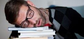 Man is asleep – man lives in a deep slumber