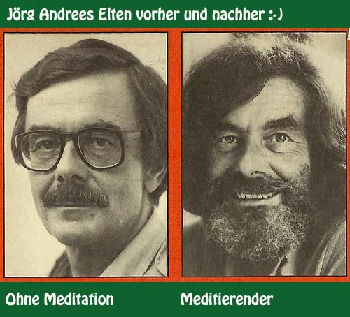 before and after meditation