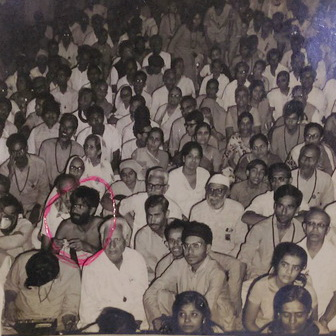 Ageh Bharti (circled) early 70s