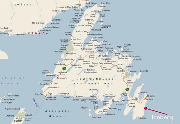 Map New Foundland