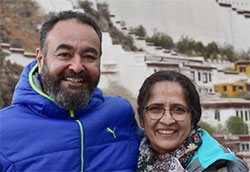 Urvashi with Anuragi in Tibet