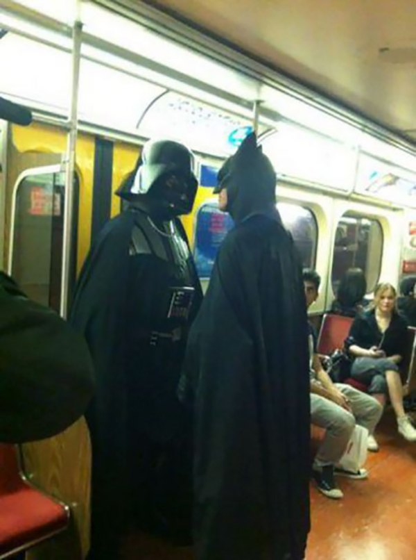 Batman and Darth Vader? Who knew.