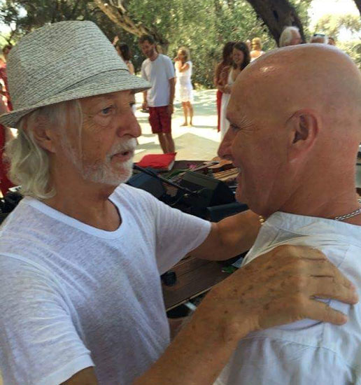 Receiving the new name from Miten at the Gayatri Festival