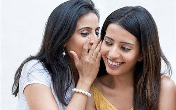 gossipping women