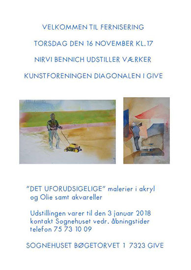 Nirvi's poster for the exhibition in Give, Denmark.