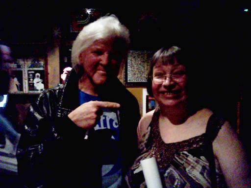With Edgar Froese, founder of Tangerine Dream