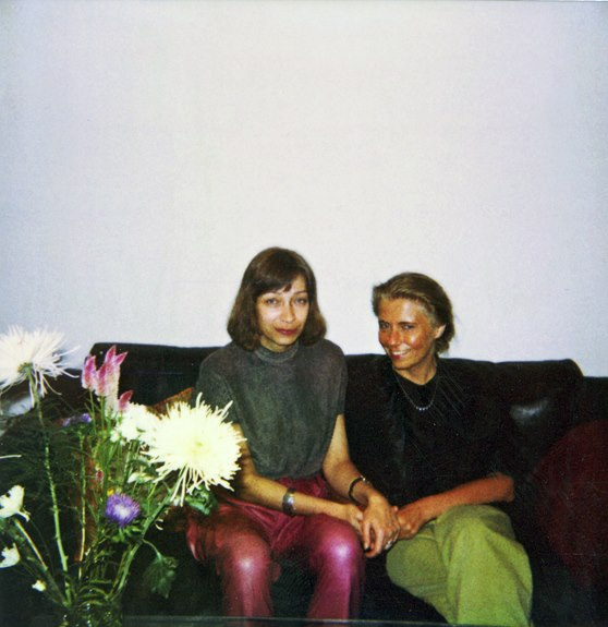 With a good friend, 1990