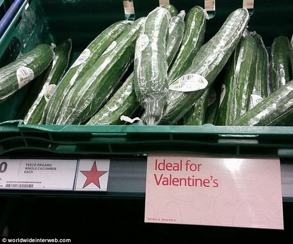 Unfortunate placement of Valentine's reminder