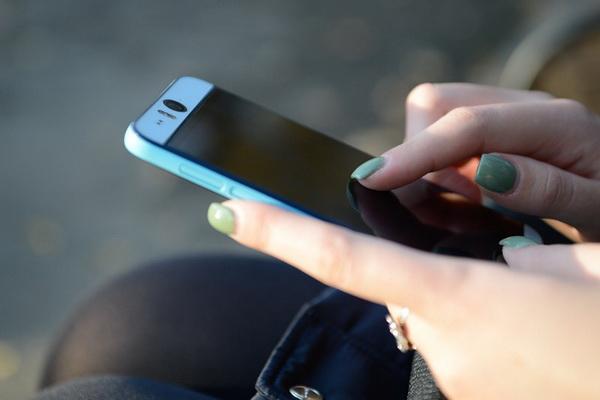 Woman mobile phone