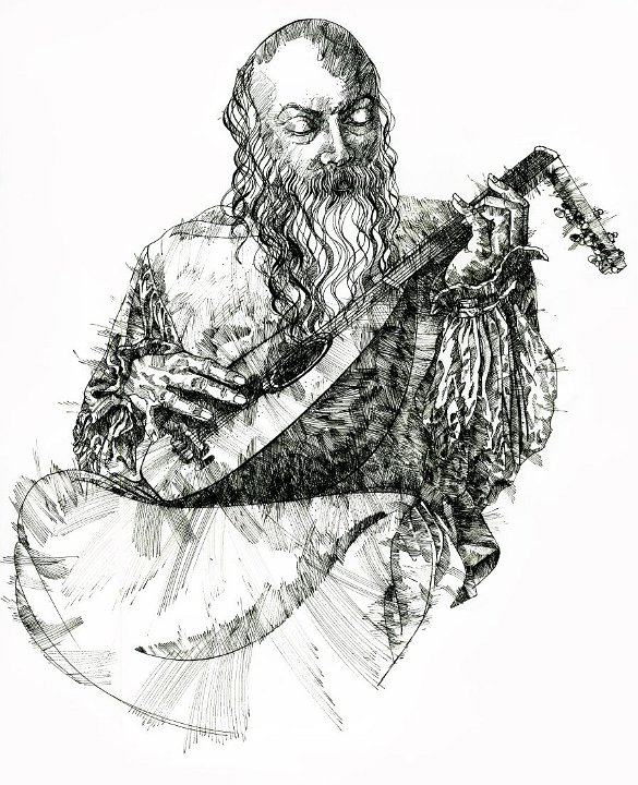 Drawing of Osho by Arhat 1a