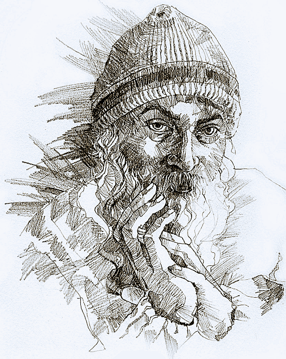 Drawing of Osho by Arhat 4
