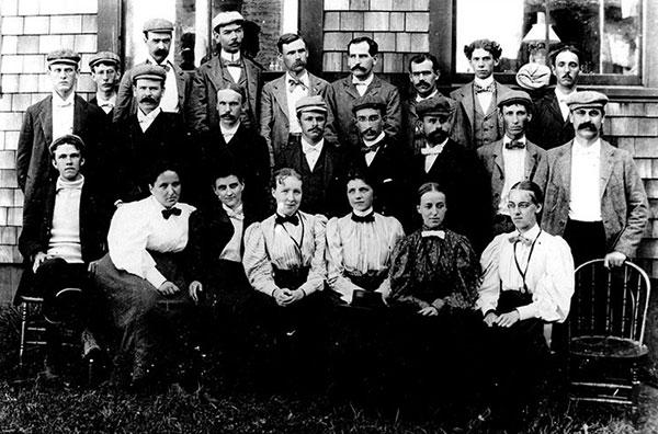 Embryology class Johns Hopkins, 1897