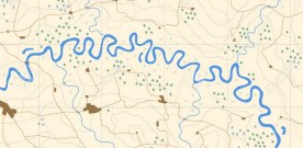 Following a map of a river