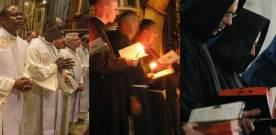 Three monks meet at a crossroads