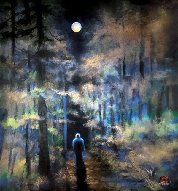 Full Moon with Osho by Padma