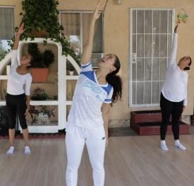 clase privada de Yoga postura y meditacion instructora Maritza Rosales Bailarina Coreografa Fundadora y Directora de Oshun Wings Dance Art and Entertainment 002