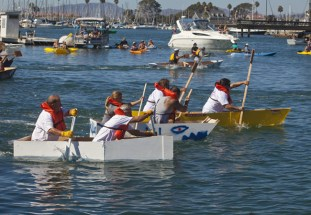 Boats that the builders had two hours to make, get tested in the Harbor