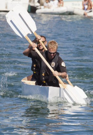 The well oiled machine of team 'Chanchitos de Agua' Mark Bussey and Jon Hoover took first place in the Nail and Sail for the second straight year.