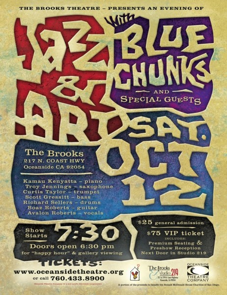 Blue Chunk Concert Poster