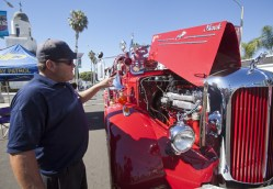 Joe Brown talks about the engine compartment of a recently restored 1952 Mack Pumper. The story behind this restoration is coming soon to OsideNews.