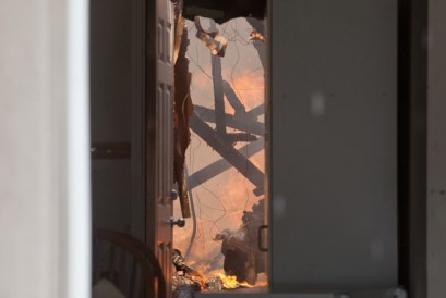 A ceiling collapses in a home on Martingale Ct.