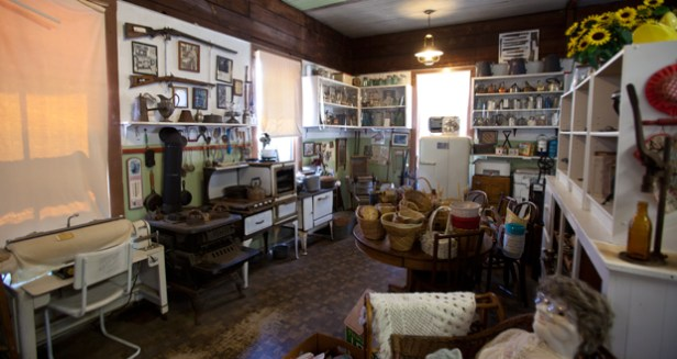 Inside the Payne/Johannsen House before it was emptied for the sale and restoration