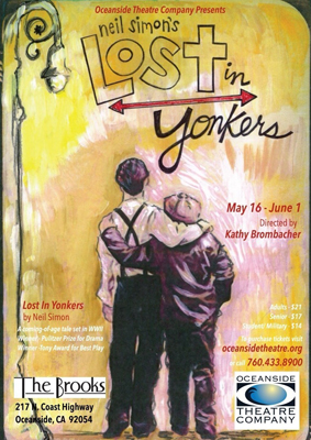 Artistic interpretation of Lost In Yonkers play by an Oceanside resident Scotti Taylor