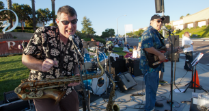 Don Bowman, Sax, Ron Bell,(pictured) Duke Bushoug and Mel Vernon aka Mel and Friends provide entertainment on Ocean Ranch Blvd