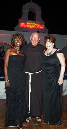 Robbie Hass Heritage Ball Co-Chair ,Fr. David Gaa, ofm Executive Director, Old Mission San Luis Rey and Laurie Weseloh Heritage Ball Co-Chair