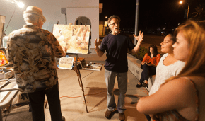 Chuck Mc Pherson and Rich Stergulz speak with Amanda Campbell and Dahlia Gutierrez about painting techniques.