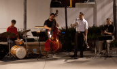 The Quartet is made up of veterans from the Navy band; Jason Hanna on vocals and trumpet, Anders Larsson on drums, Jason Littlefield on bass and Jon Walters on guitar.